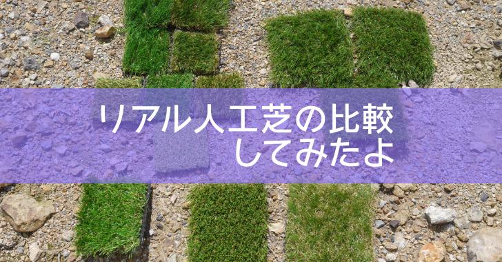 庭 リアル人工芝 比較 サンプル
