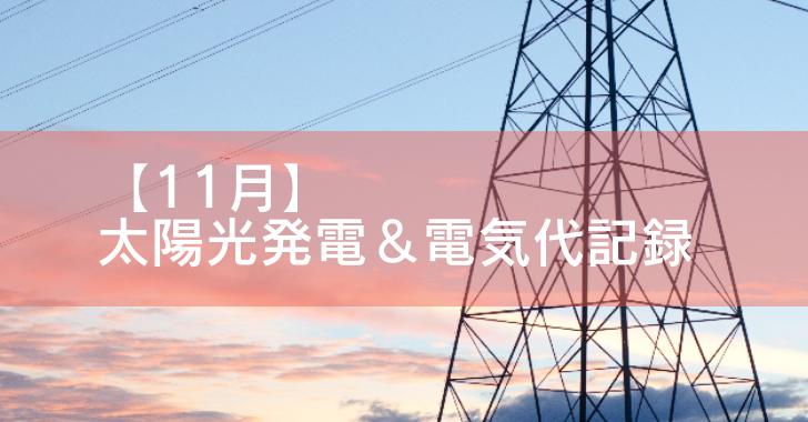 太陽光発電 電気代 売電 オール電化 11月