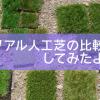 「リアル人工芝」の比較!5つの店舗のサンプルを比べてみた結果。